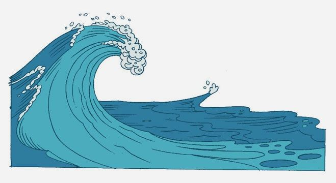 Cartoon Ocean Waves little like this gentle crashing