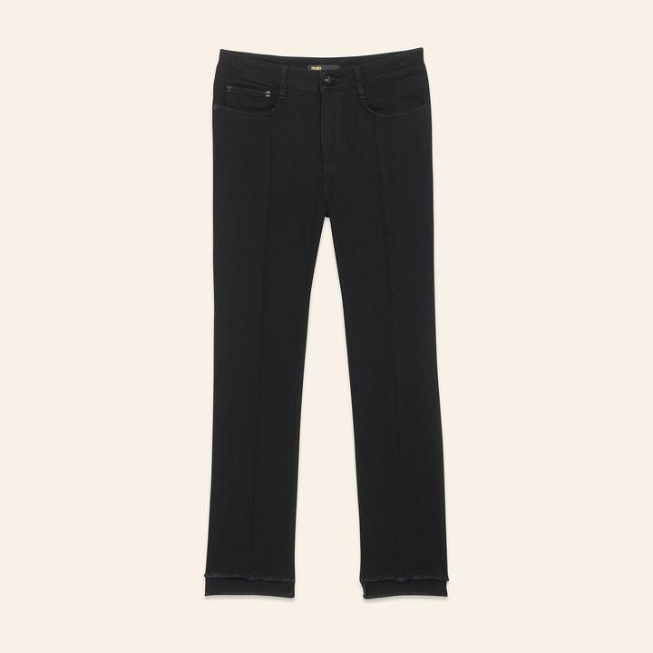 Maje Straight-cut jeans with asymmetric hem