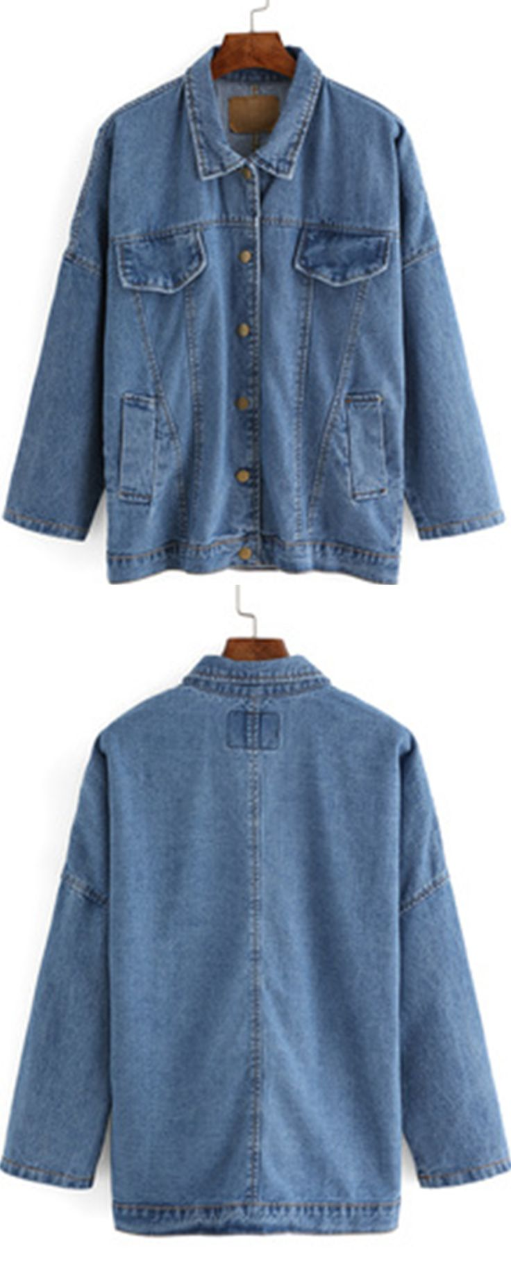 Add dropped shoulder design to denim trucker jacket ,the jeans jacket will be not that rigid as soon as possiable .Absoultely love this coat so much !