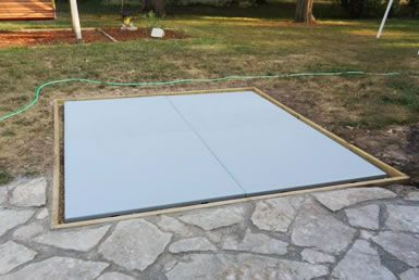 how to build a concrete pad for a hot tub