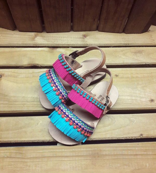 """Kid's Sandals, Strappy Leather Sandals for Kids, Ethnic Sandals, Boho Sandals,Kids shoes, """"Bali"""""""