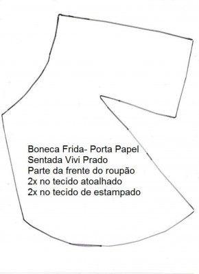 Boneca Frida porta rolo de papel 5