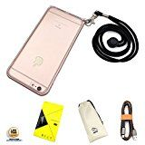 iPhone 6s Case with Lanyard [Wrist Strap] Use in Events, Office & Hospitality [Cell Phone Necklace Holder] (Rose Gold)