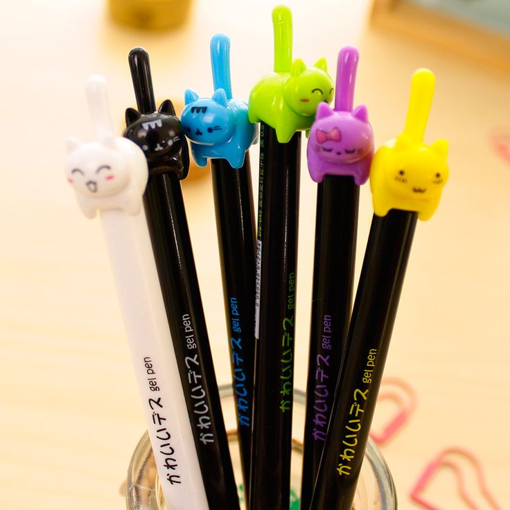 4X Cute Kawaii Lovely Cat Tail Press Gel Pen Signing Writing Pen School Office Supply Student Stationery Creative Gift  EUR 2.28  Meer informatie  http://ift.tt/2pCdqE6 #aliexpress