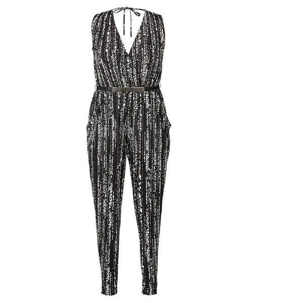 City Chic Mono Aztec Jumpsuit ($84) ❤ liked on Polyvore featuring jumpsuits, plus size, plus size jumpsuits rompers, aztec jumpsuit, plus size jump suits, jump suit and plus size jumpsuits