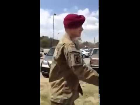 U.S. Army Soldier Surprises His Mom After Deployment in Afghanistan - http://www.militarysurprise.com/u-s-army-soldier-surprises-his-mom-after-deployment-in-afghanistan/
