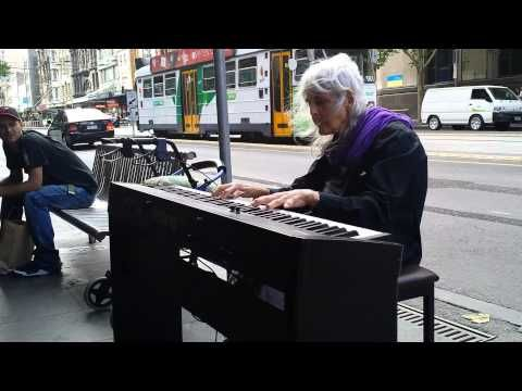 Natalie: Iconic Melbourne Piano Street Performer. [Untitled original piece.] (21/1/2014) - YouTube