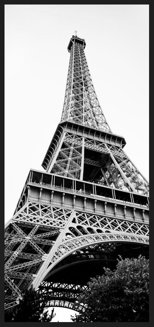 bb41480b0 Quadro Decorativo em Preto e Branco Paris Torre Eiffel 68x143cm - Decore  Pronto