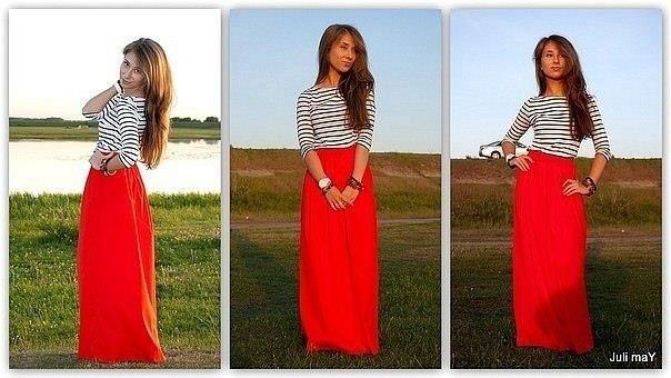 Длинная белая цыганская юбка