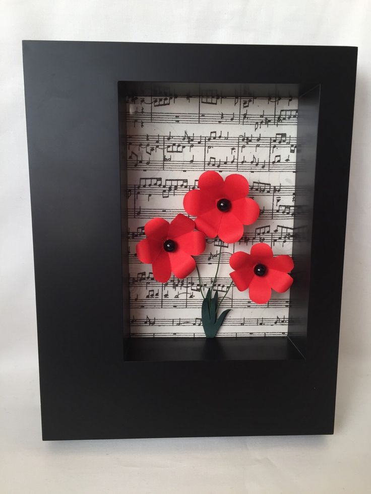 A personal favourite from my Etsy shop https://www.etsy.com/uk/listing/268356175/paper-poppies-in-box-frame-home-decor