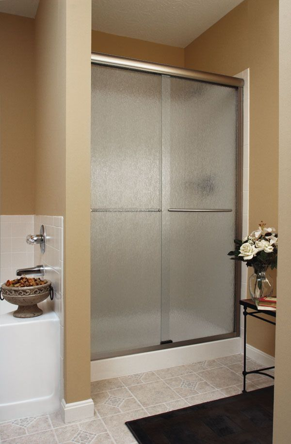 infinity bypass shower enclosure featuring rain glass and brushed nickel finish shower doors u0026 enclosures by basco pinterest shower enclosure - Delta Shower Doors