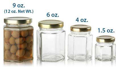 hexagonal glass jars bottle dr oz and jars. Black Bedroom Furniture Sets. Home Design Ideas