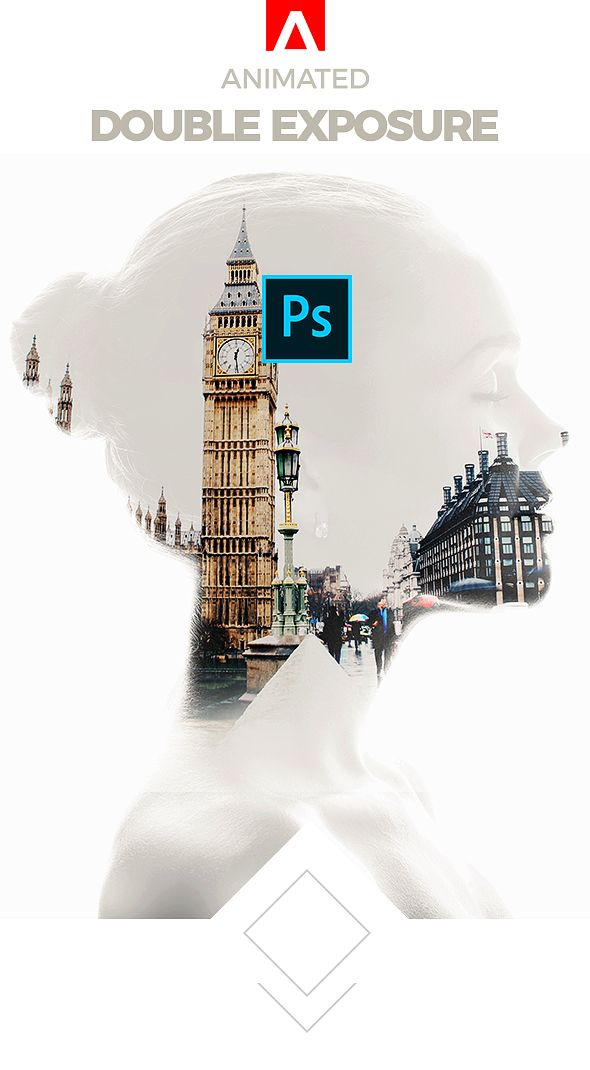 Animated Double Exposure Action