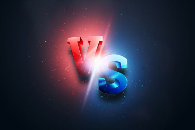 Creative Background Red Blue Versus Logo Letters For Sports And