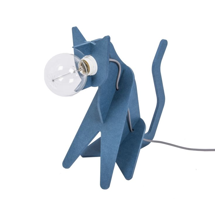 Epic Lampe chat Get Out Cat bleu Eno Studio Lumi Design Les