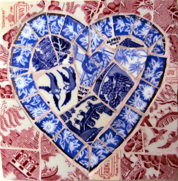 Smashing China Mosaics - vibrant mosaics created from vintage china