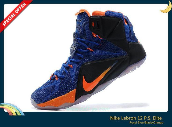 Discount Shoes Online Nike Lebron 12 P.S. Elite 684593-010 Royal Blue/Black/Orange
