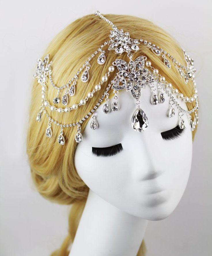 30 * 20 Cm Diamond Tiara Bride Hair Of The Forehead Jewelry Chain Wedding Tiara Wedding Dress Accessories Bridal Accessories Hair Bridal Hair Pin From Dreamyqueenhair, $24.83| Dhgate.Com