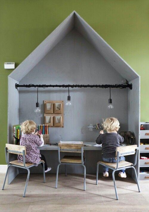Kids playhouse and study area