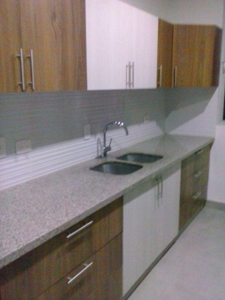 Fabricada por c g arte y decoracion meson en granito for Decoracion piso gris