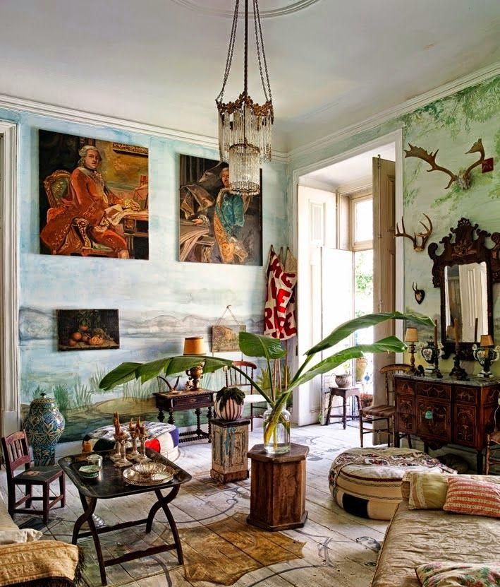 bohemian+homes+interior+design+sitting+room+eclectic.jpg 709×831 pixels