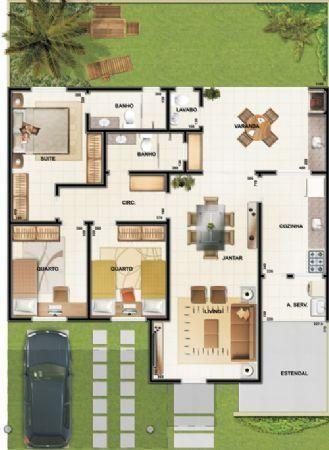 Pinterest: @claudiagabg | Casa 3 cuartos