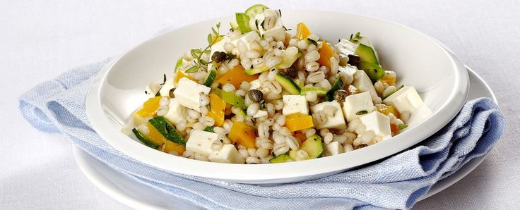 Orzo con verdure e primosale - Barley with veggies and Primosale cheese