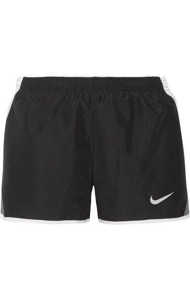 Nike - Dry Tempo Mesh-trimmed Shell Shorts - Black -