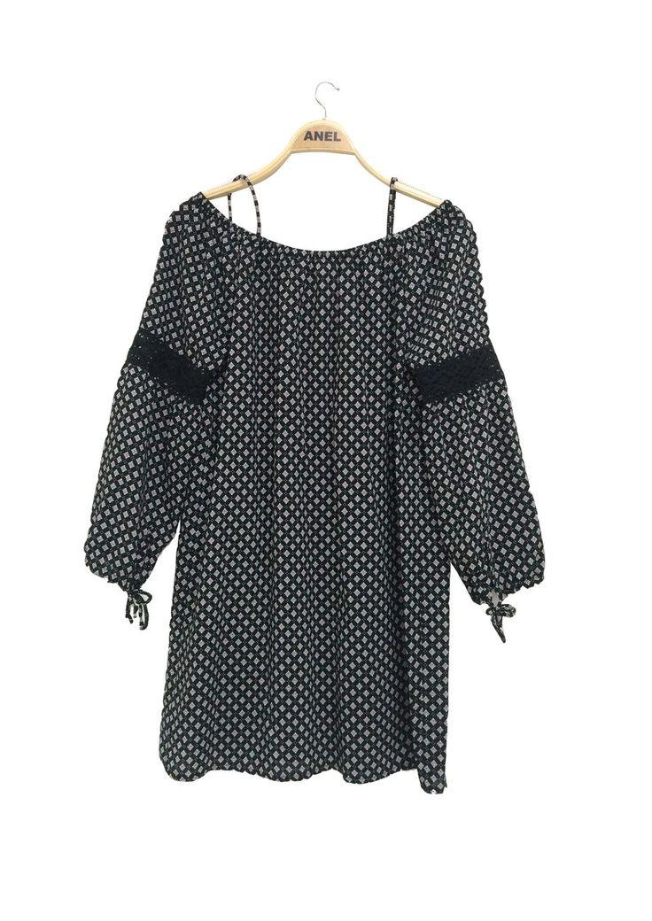 Φόρεμα Μουζόλα Εμπριμέ  Σύνθεση : 100%vis
