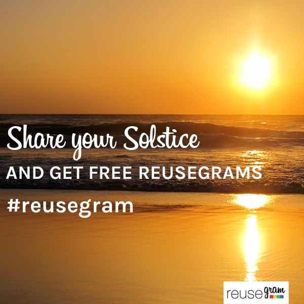 Next Friday is a special day! Celebrate with us sharing your moment. Use hashtag #reusegram on Instagram and our favorites will get free reusable stickers!