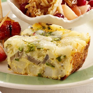 Herbed Egg-Potato Bake - Assemble this cheesy potato dish two days ahead of time and refrigerate.    Recipe: www.midwestliving...