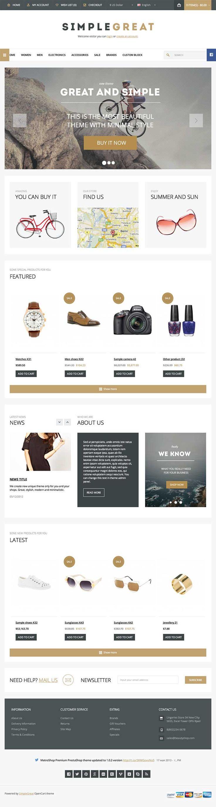 SimpleGreat - Responsive Electronics Store #Magento eCommerce Theme