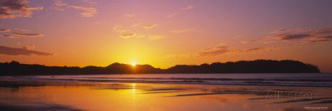 Samara Beach at Sunrise, Guanacaste Province, Costa Rica Photographic Print