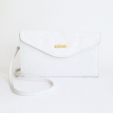 Witte envelop tas