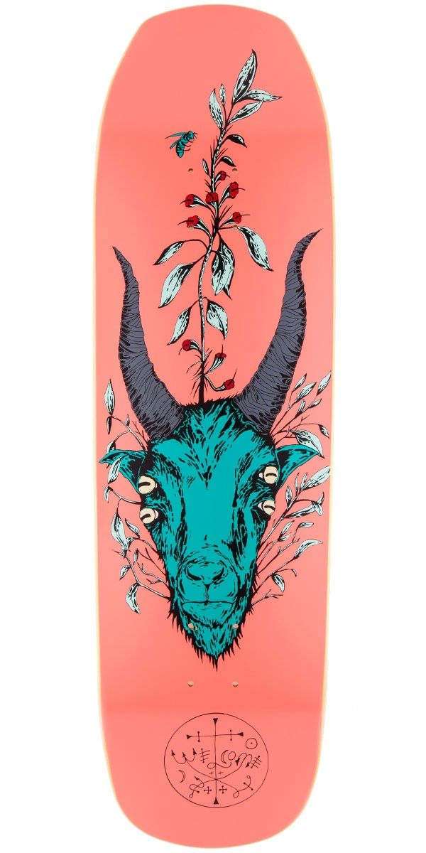 "Welcome Goathead On Banshee 90 Skateboard Deck - Pink - 9.00"""