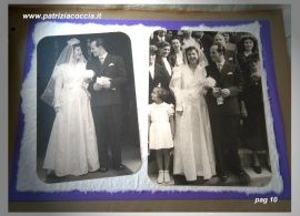 #Album  #di  #famiglia #Eumene & #Clara realizzato a mano con la tecnica dello #scrapbooking - PAG 10