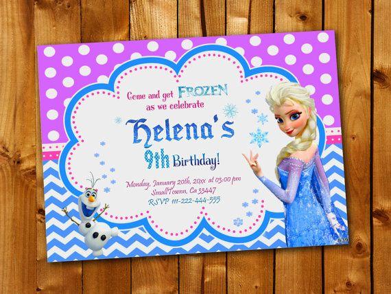 Disney Frozen Elsa Olaf Birthday Invitation Birthday by Point71