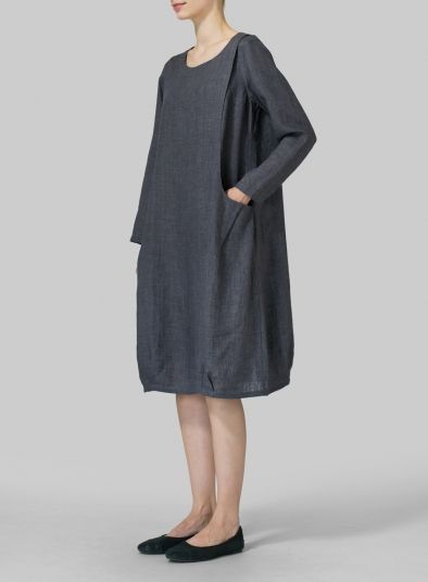 PLUS Clothing - Linen Luxe Pocketed Dress