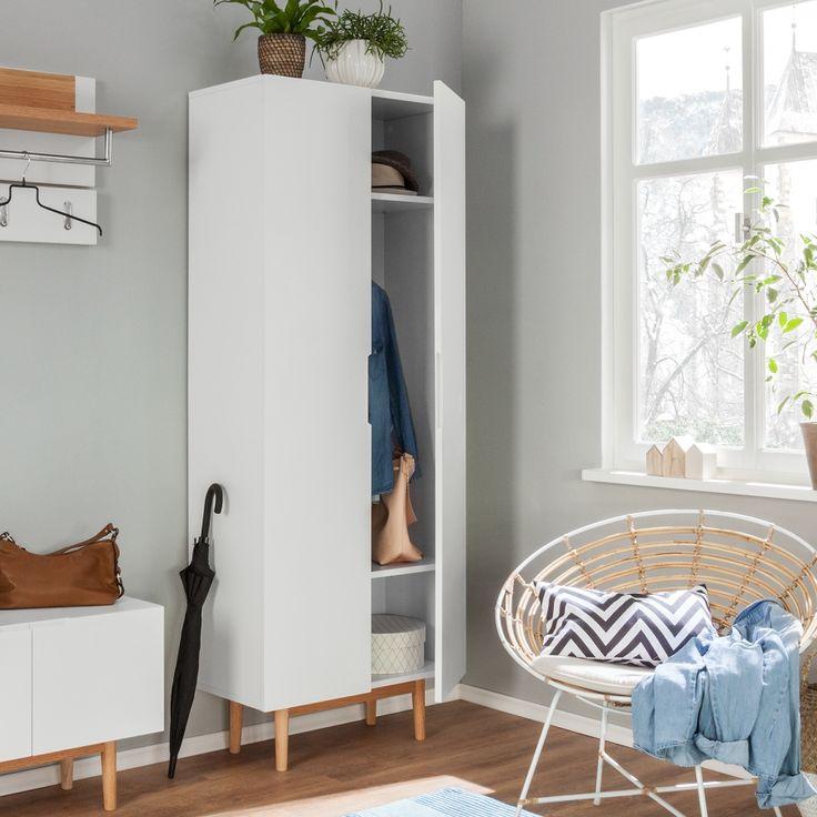 armoire d entr e lindholm partiellement en ch ne massif. Black Bedroom Furniture Sets. Home Design Ideas