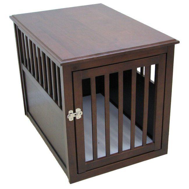37 best designer dog crate images on pinterest dog cages for Cheap dog crate furniture