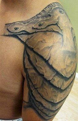 Tattoo - shoulder armour