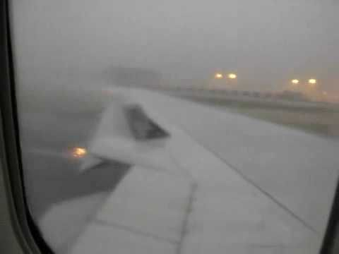 Crazy dangerous takeoff 767 in severe storm!!