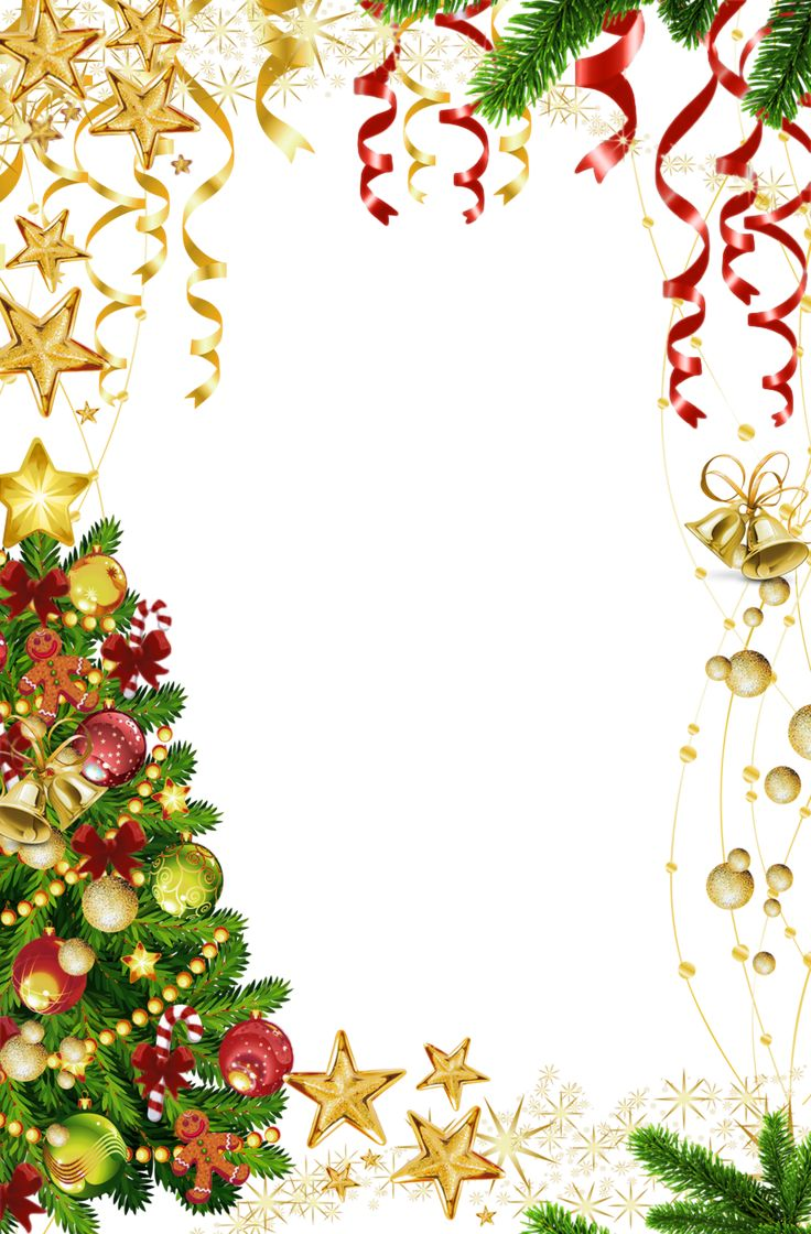 Transparent Christmas Photo Frame with Christmas Tree