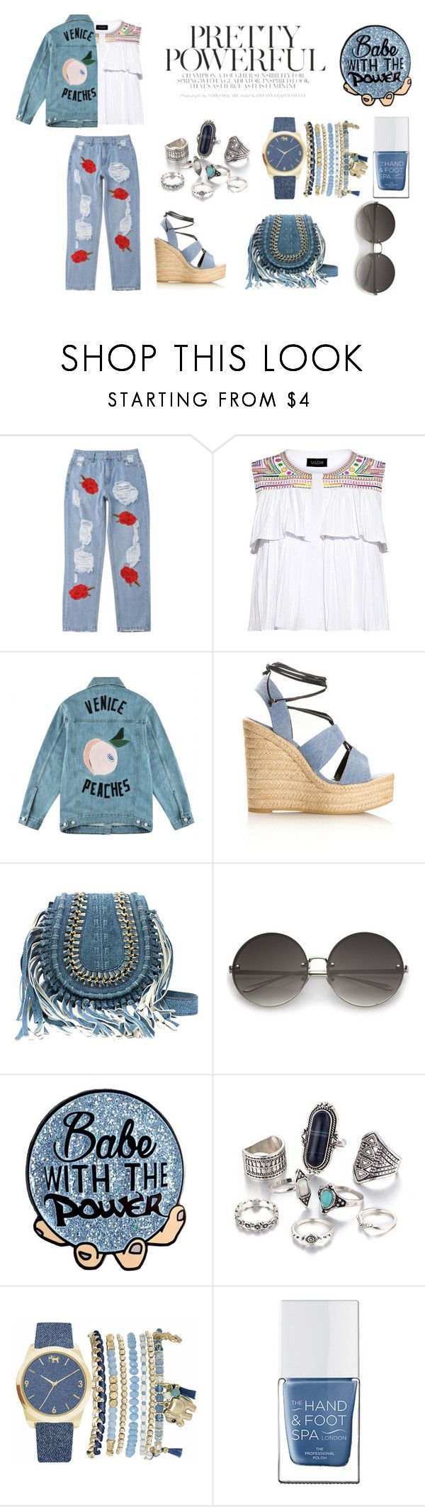 """""""COACHELLA"""" by rasberry893 on Polyvore featuring Saloni, Être Cécile, Yves Saint Laurent, Mixit and The Hand & Foot Spa"""