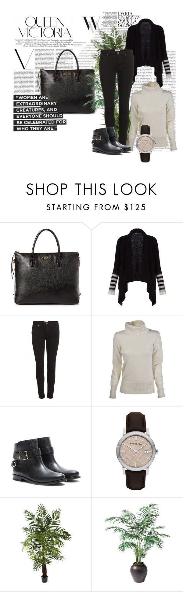 """Nicole - Dinner with Ryan and family"" by miriam83 ❤ liked on Polyvore featuring Balenciaga, Miu Miu, BCBGMAXAZRIA, Acne Studios, Burberry, Victoria Beckham, Nearly Natural and Ethan Allen"