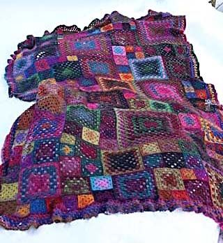 Granny squares in different sizes, inspiration.