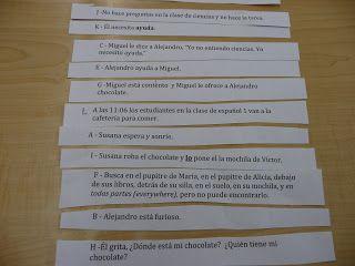 Teaching Spanish w/ Comprehensible Input: Sentence strips