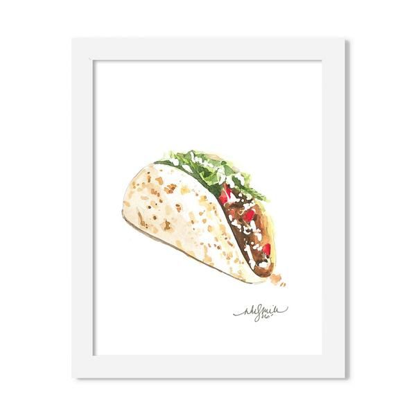 taco - 8 x 10 print - JustGreet