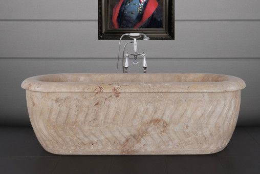 Tivoli Travertine Marble Bath