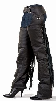 Ladies Premium Chaps with Studs Beaded Fringe and Fashion Snap UNDER $130 Great #shopping #Christmas #gift #motorcycle #Biker
